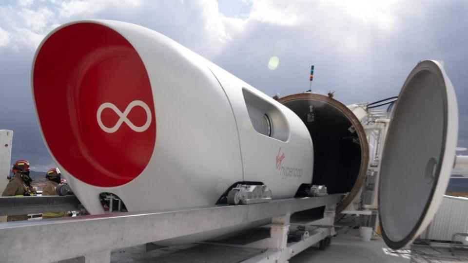 Nuevo transporte transporte Virgin Hyperloop