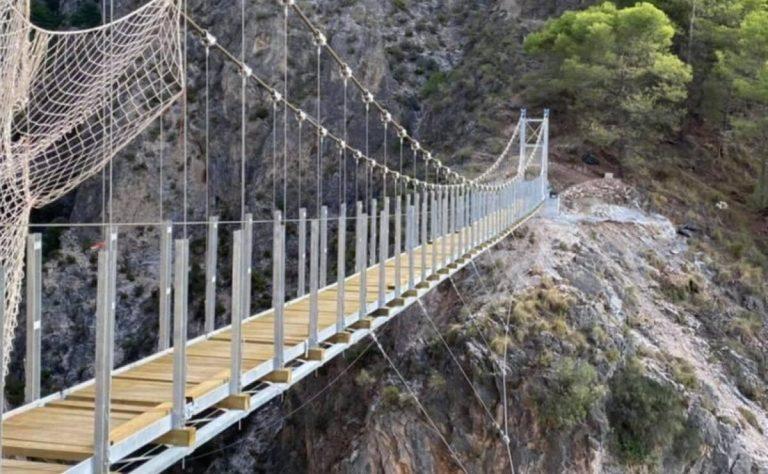 Málaga estrena nuevo puente colgante