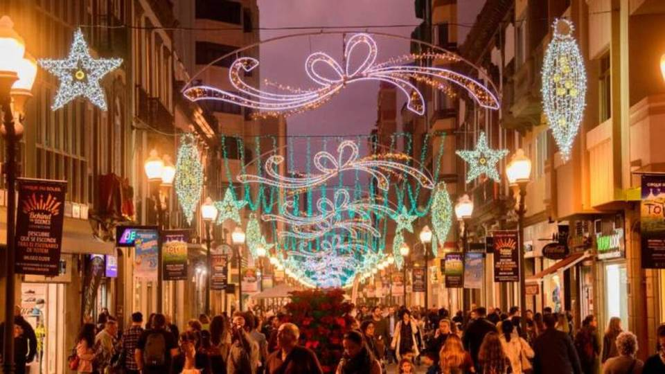 alumbrado navideño las palmas, una de las mejores luces navideñas de España