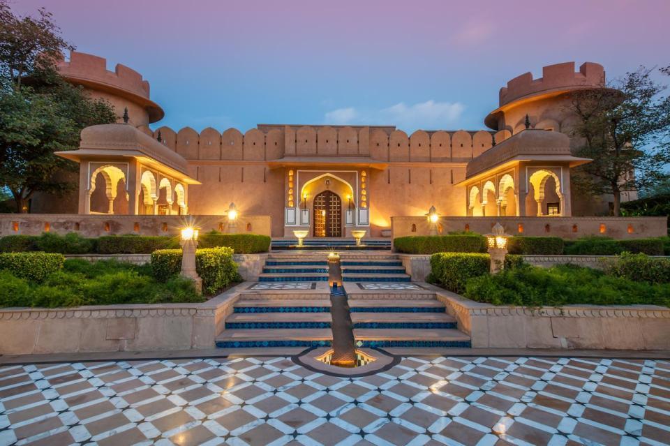 Oberoi Rajvilas en Jaipu hoteles más lujosos en India