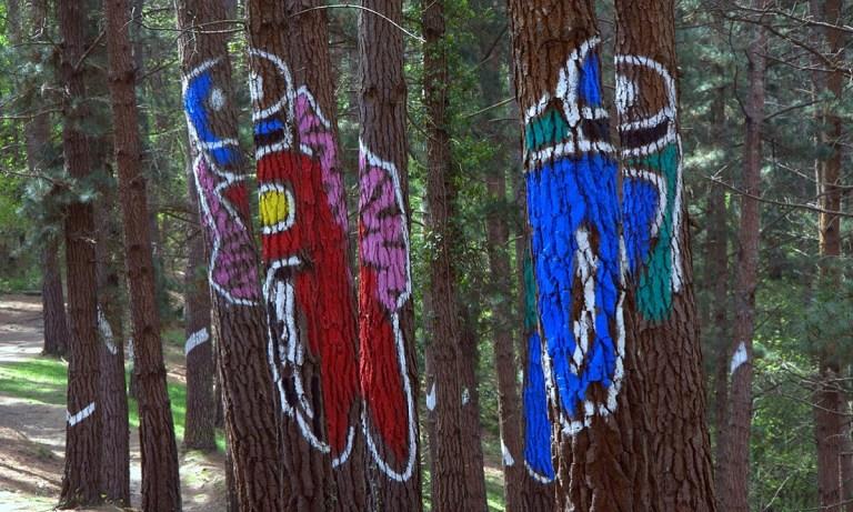 pinturas del bosque pintado de Oma