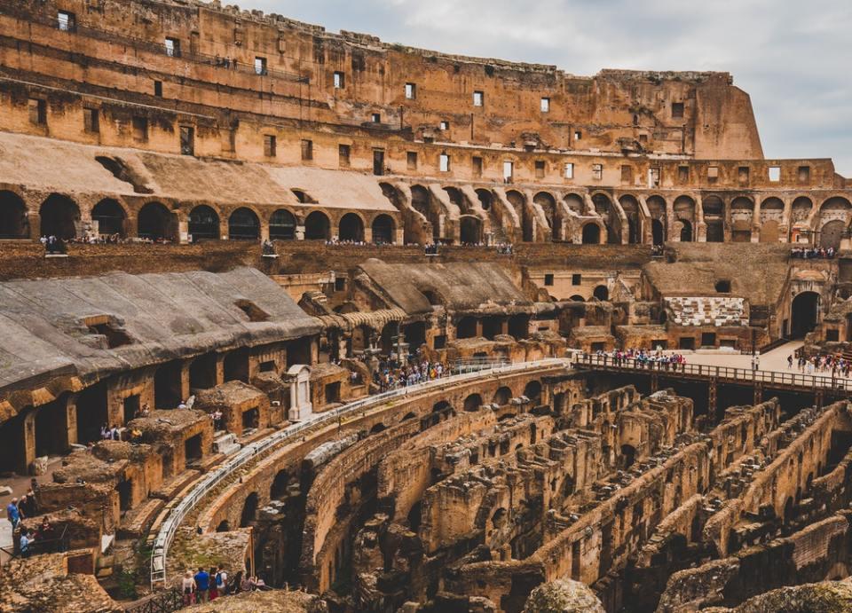 El Coliseo romano es el símbolo de la ciudad