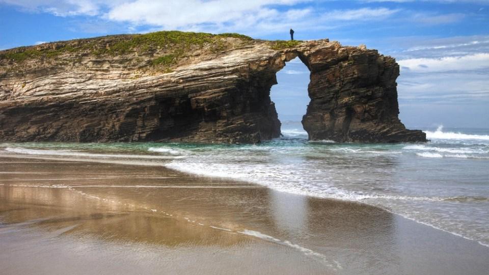 La Playa de las Catedrales es un espectáculo visual para el visitante