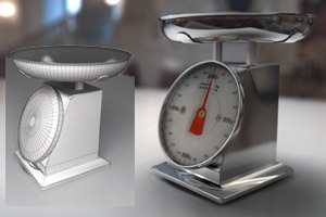 Free 3D Models  Kitchen Scale