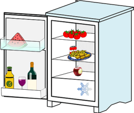 opened Refrigerator graphic