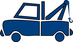 Blue Towing Car Graphic