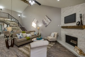 Corner Fireplace Living Room | Lugo & Co. in Phoenix, AZ