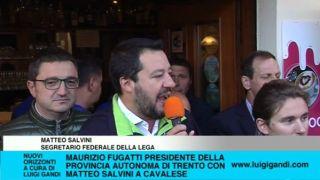 Maurizio Fugatti Presidente Provincia Trento con Matteo Salvini a Cavalese