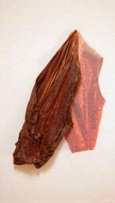 arch.n. 867 gill foglie gillet resinato + riproduzione fotografica su tela applicata a tavola cm 88 x 51, anno 2009