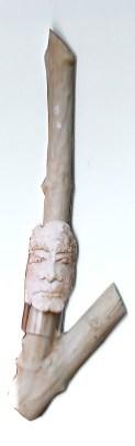 arch.n. 535 Rinascita 33 Gres, plexiglass, legno scolpito, cm 97x27- anno 2003