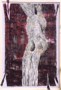arch.n. 429 abisso Affresco ad encausto su tela applicata a tavola – cm 90x130, anno 2002