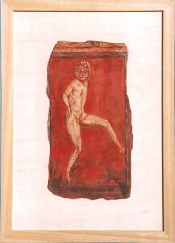 arch.n. 156 Encausto su tela, cm 44x61– anno 2001