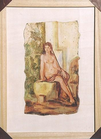 arch.n. 165 Encausto su tela, cm 44x61– anno 2001