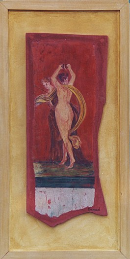 arch.n. 160 Encausto su tela,cm 35x60 – anno 2001