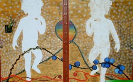 arch.n. 362 Librinto n.3 Affresco su tavola - cm 50x60 - anno 2000-2001