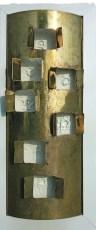 arch.n. 779 Luce legno + bronzo + affresco e vetro, cm 32 x 8 x h76 – anno 2005