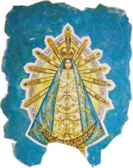 rch.n.113 Madonna cilena affresco su tela applicata a murocm 60x90, anno 2002