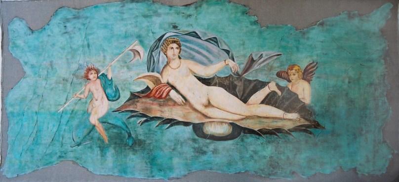 arch.n. 168 venere Encausto su tela, cm 300x150 – anno 2001