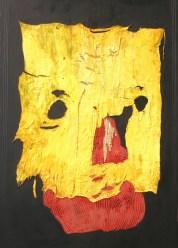 arch.n. 709 Spazio giallo affresco su tavola + tela cm 100x150 – anno 2004