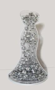 arch.n, 1.057 Ipazia del Viaggio interiore ferro smaltato + 130 ca sfere in PVC con doppia stampa fotografica - 2011/12 – cm 83x93 x h 143 Catalogo ed. Bozzetto
