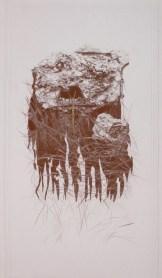 arch.n. 714 Ai confini col deserto Rielaborazione digitale + pittura ad olio su tela cm 87x150, anno 2004