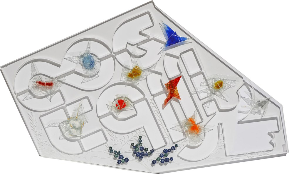 Arch.1.365 Acquario dell'Eden – plexiglass lavorato + vetro+ tessuti compattati con filo ferro zincato e resina, cm 155x90, anno 2016