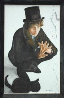 arch.n. 245 Bob Dylan affresco su tela, cm 60x90 – anno 2007
