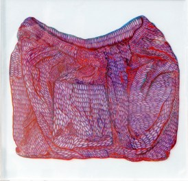 dualita10 arch.n. 910 Ricomposizione, cm 50x50, pittura a smalto + teka, 2011