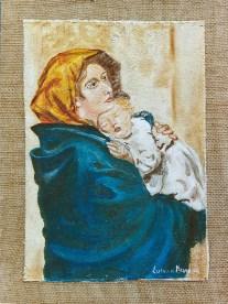 arch.n.85 maternità, cm 25x30 – anno 1999 affresco