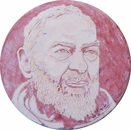arch.n.111 Padre io - ceramica – diametro cm 32 - anno 1999
