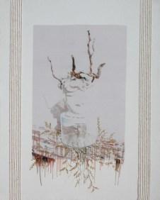arch.n. 717 Sogno aperto rielaborazione digitale + pittura ad olio su tela, cm 87x110, anno 2004