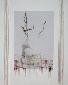 arch.n. 716 Sogno chiuso rielaborazione digitale + pittura ad olio su tela, cm 87x110, anno 2004