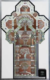 Giardino Eden in Duomo di Firenze . archivio n. 1979(Collage 56 immagini)18.200 px x 11.347 px. Stampa su dibond + incisione