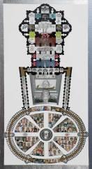 Giardino Eden in San Pietro in Vaticano. Archivio n. 1980. (collage di 175 immagini di quadri. I ritratti nella piazza, eseguiti nel decennio 2000-2010) 23.000 px x 12.283 pixel. Stava su dibond e incisione