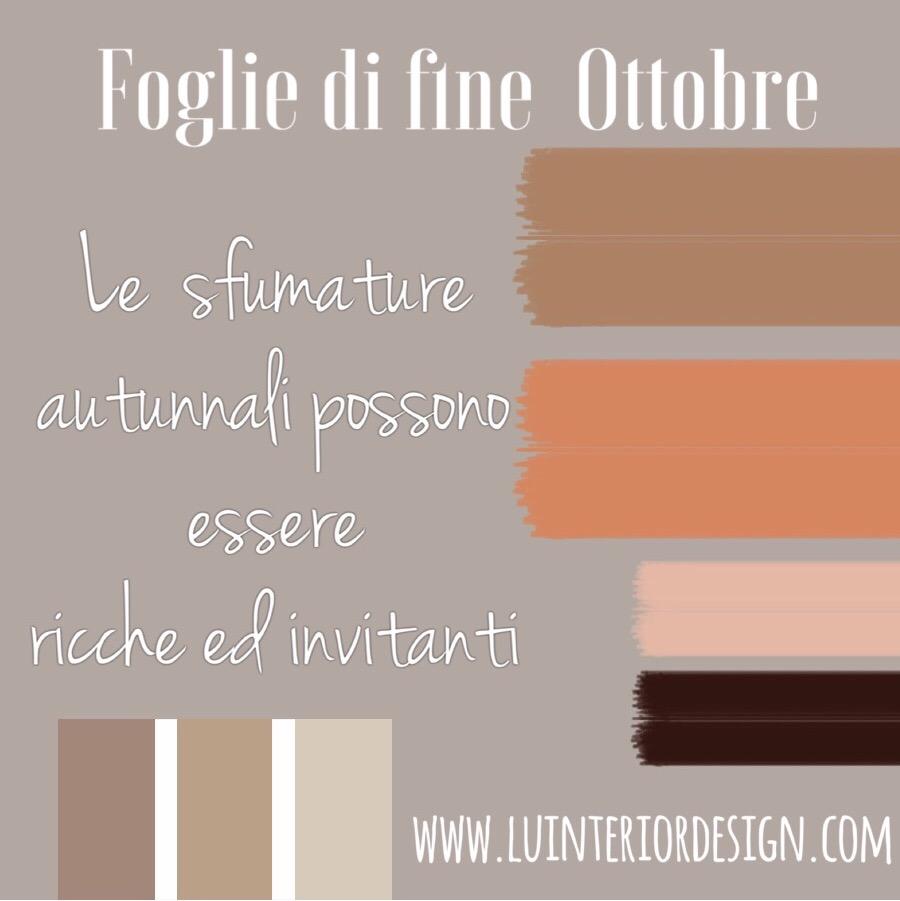 Paletta colore, foglio di fine ottobre