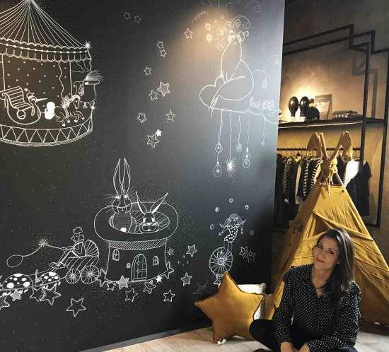 panoramica Orfeo kids negozio Gallarate per stefania loschi decorazione murale
