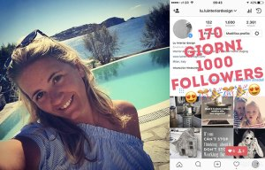 fotomontaggio, primi 1000 followers su Instagram luinteriordesign