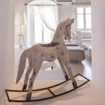 Accessorio, cavallo a dondolo, decoration for home, living room Mykonos villas