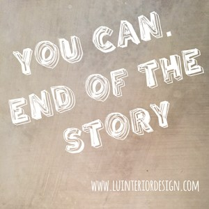 you can and of the story
