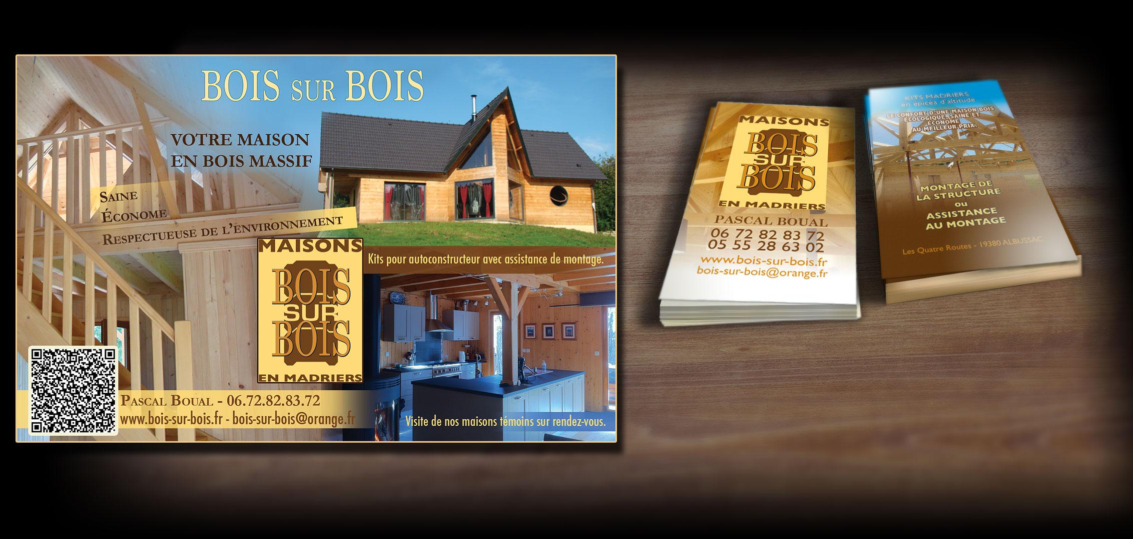 identité visuelle pour un constructeur de maisons en bois
