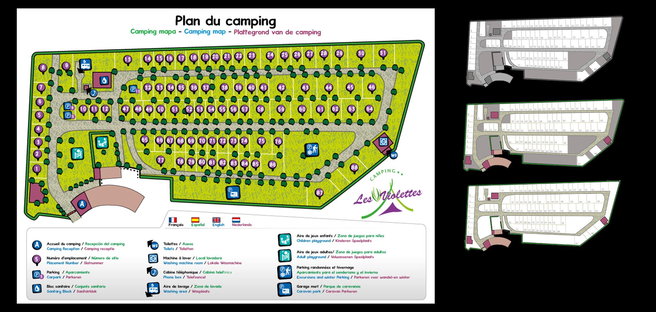 plan d'un camping
