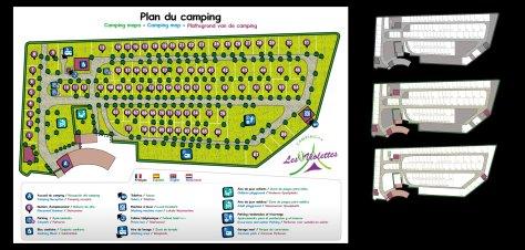 Plan du camping «Les Violettes»