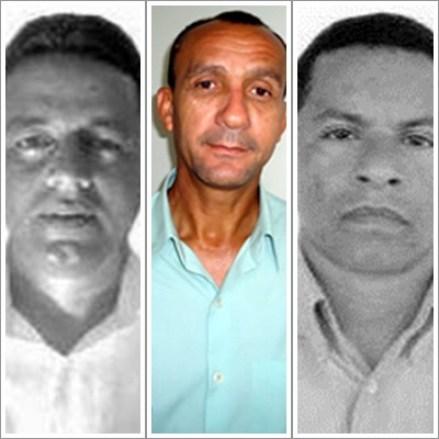 Eliomar Alves de Miranda (Capinzal do Norte); João da Cruz Ferreira (São José dos Basílios) e Ivaldo Almeida Ferreira (Mirinzal)