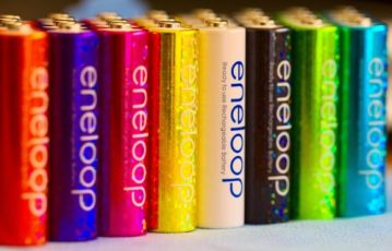 Colorful Eneloop Batteries