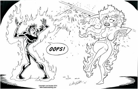 Human Torch vs Fire