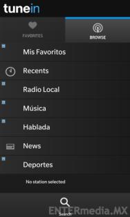 TuneIn Radio en BlackBerry 10