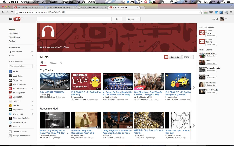 C mo usar youtube como reproductor de m sica tutorial for Videos fuera de youtube
