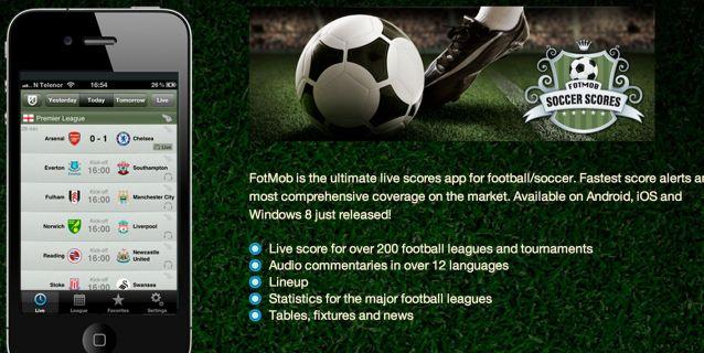 Fotmob te informa minuto a minuto de los juegos de tu for Fuera de tu liga