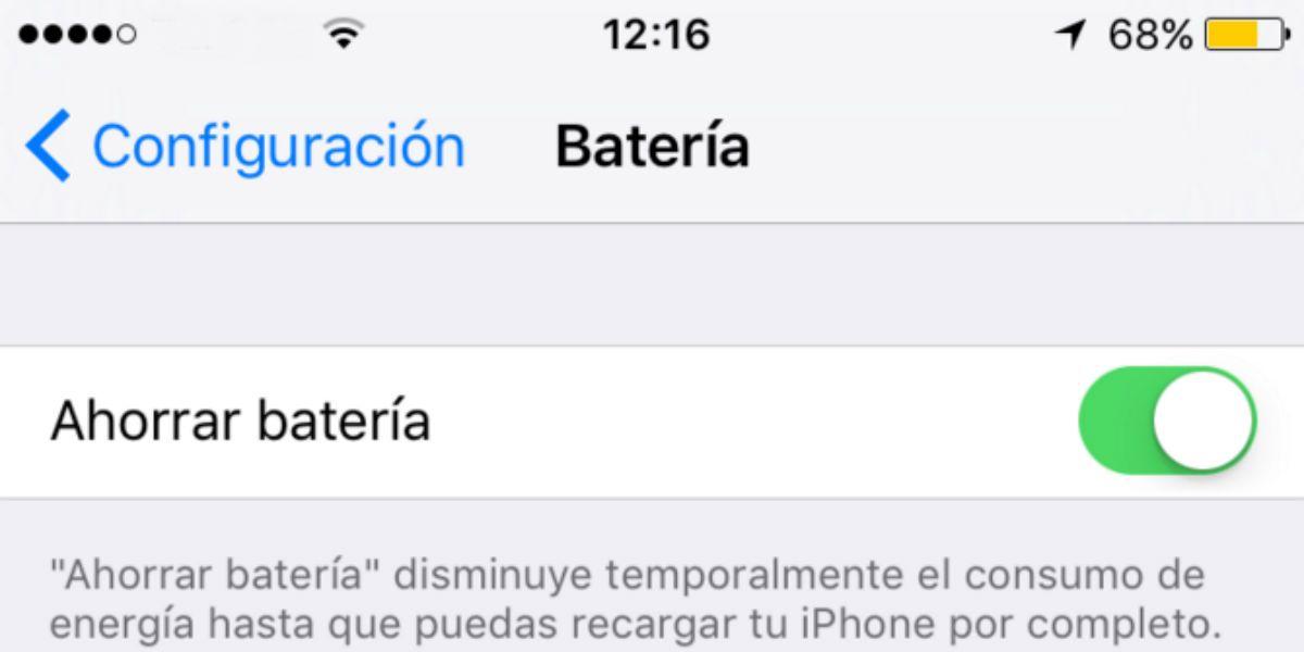 ¿Por qué el icono de batería del iPhone aparece amarillo?