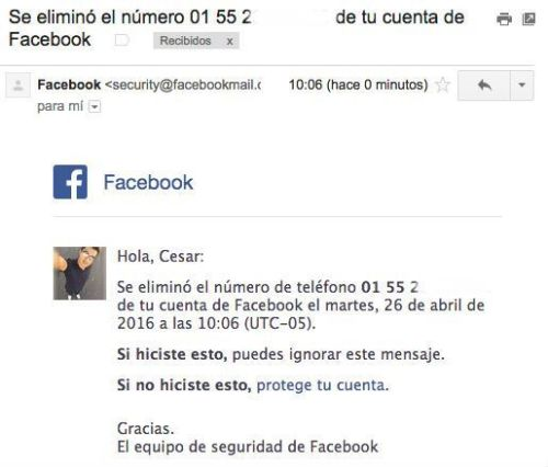 cómo ocultar mi número de celular en facebook